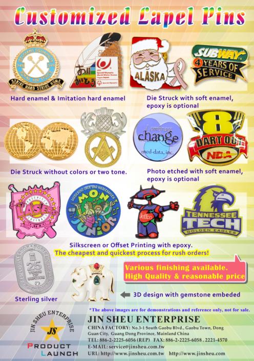 custom metal pin badges