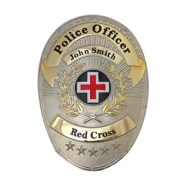 Oval Shaped Police Badge