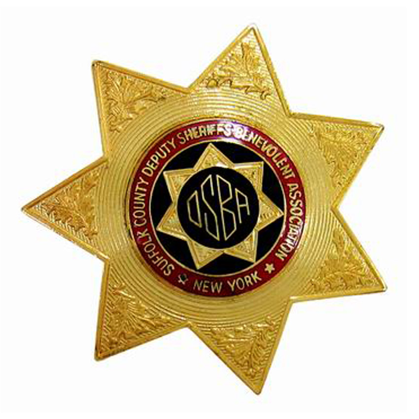 Personalized 7 Point Star Metal Badge