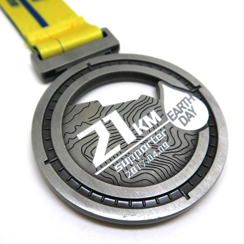 custom made die casting zinc alloy metal medals