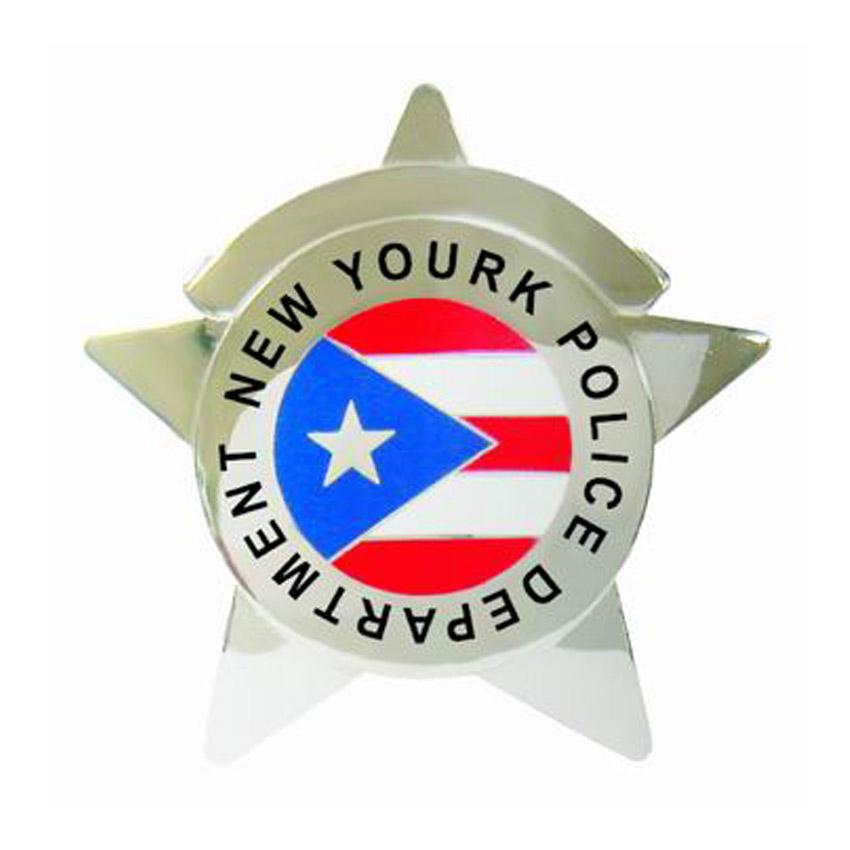 custom 5 point star police badge