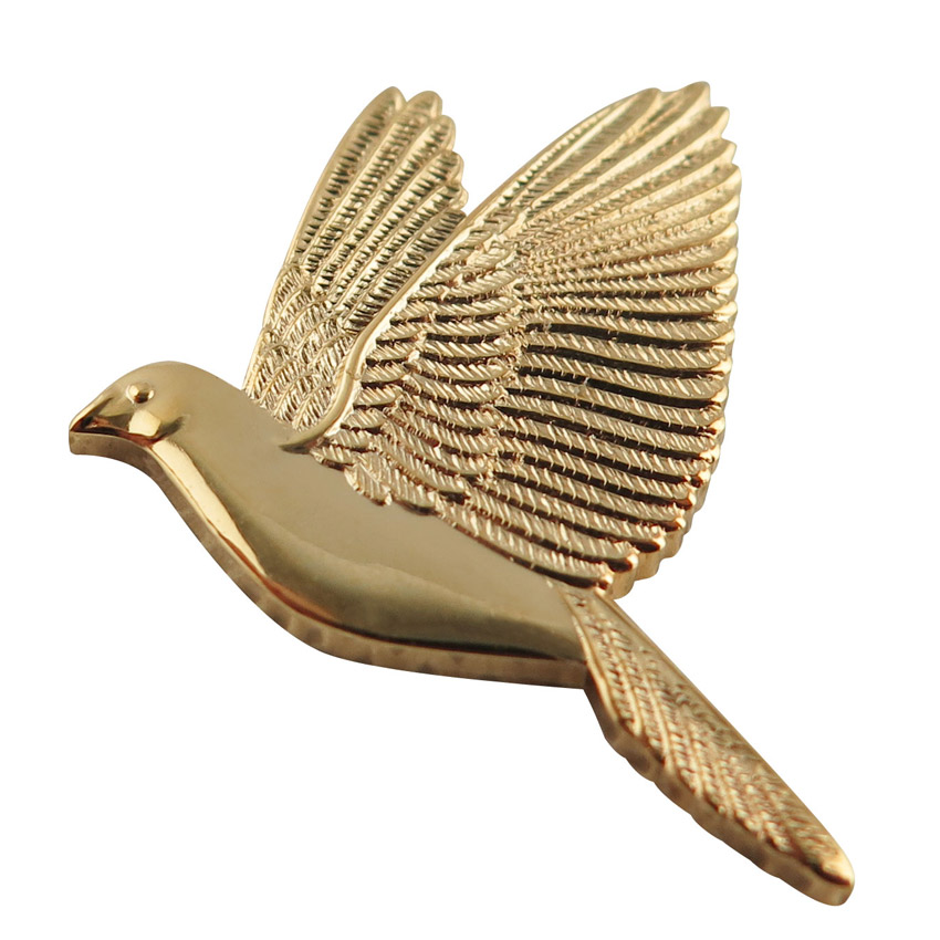 gold plated peace dove lapel pin