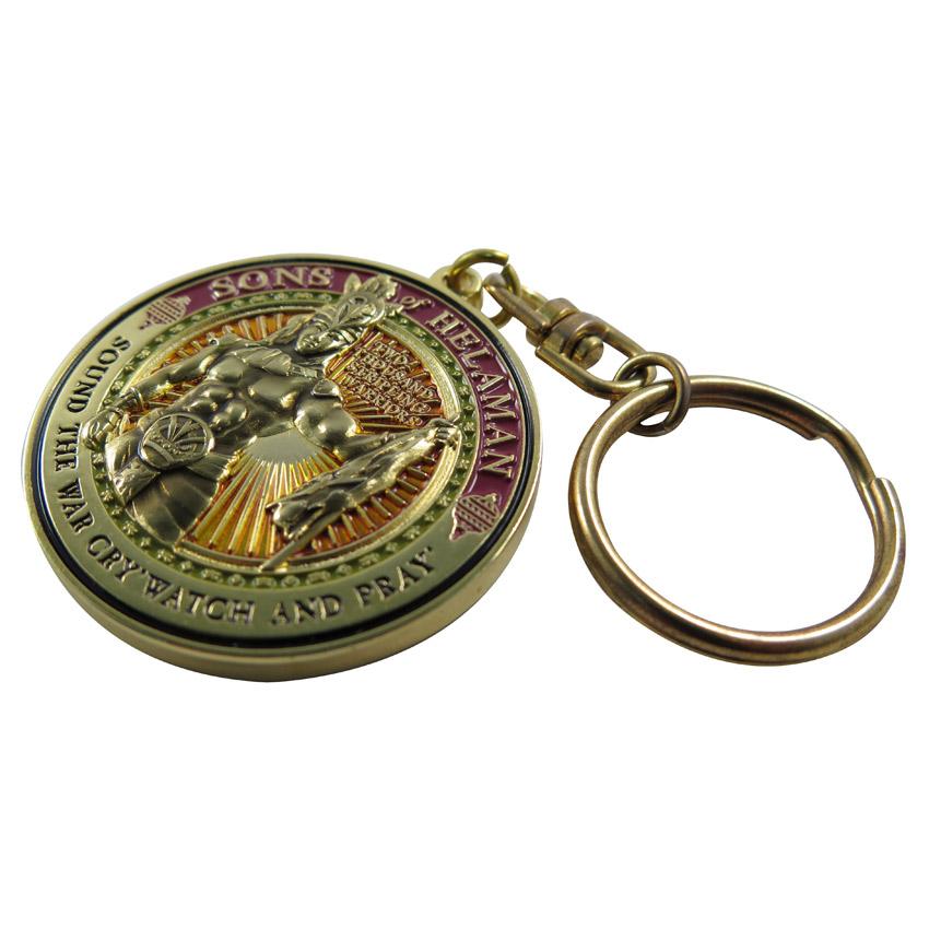 custom brass stamped religious keychain