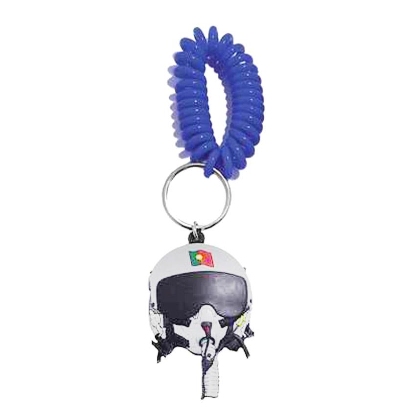 custom rubber wrist coil key ring