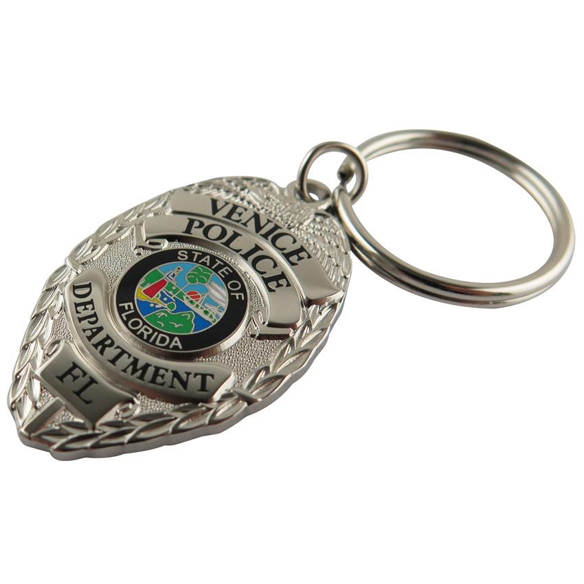 custom police badge keychains