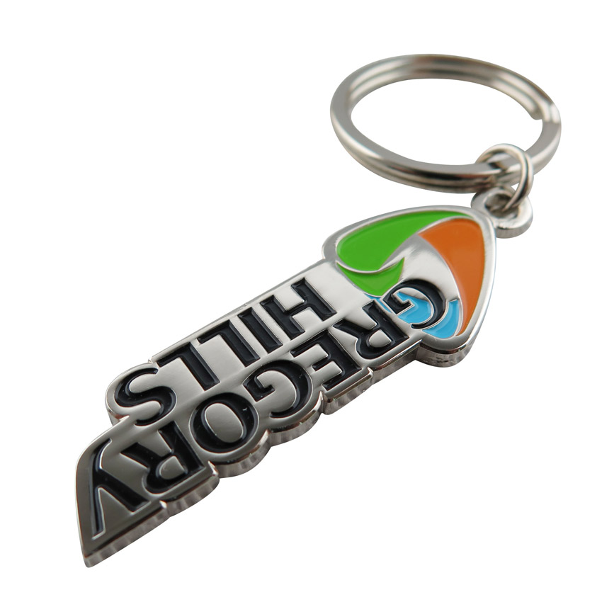 custom company logo metal keychains