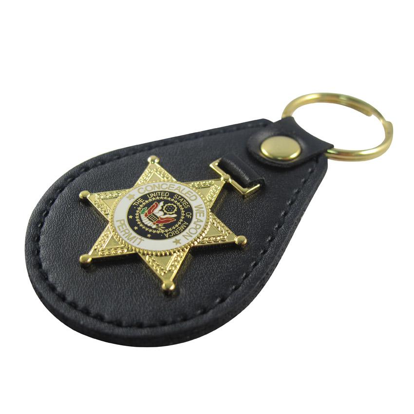police badge holder keychain