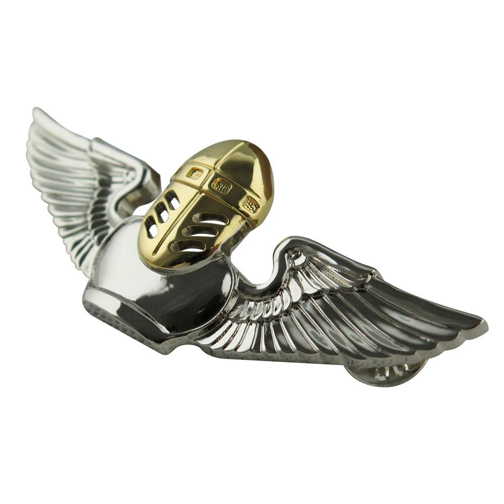 custom aviation wings lapel pin