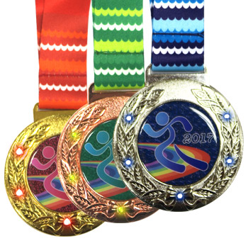 personalized led flashing medals
