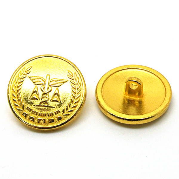 custom gold plated buttons