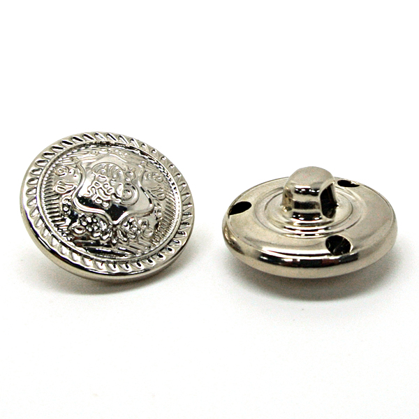 custom silver plated shank buttons