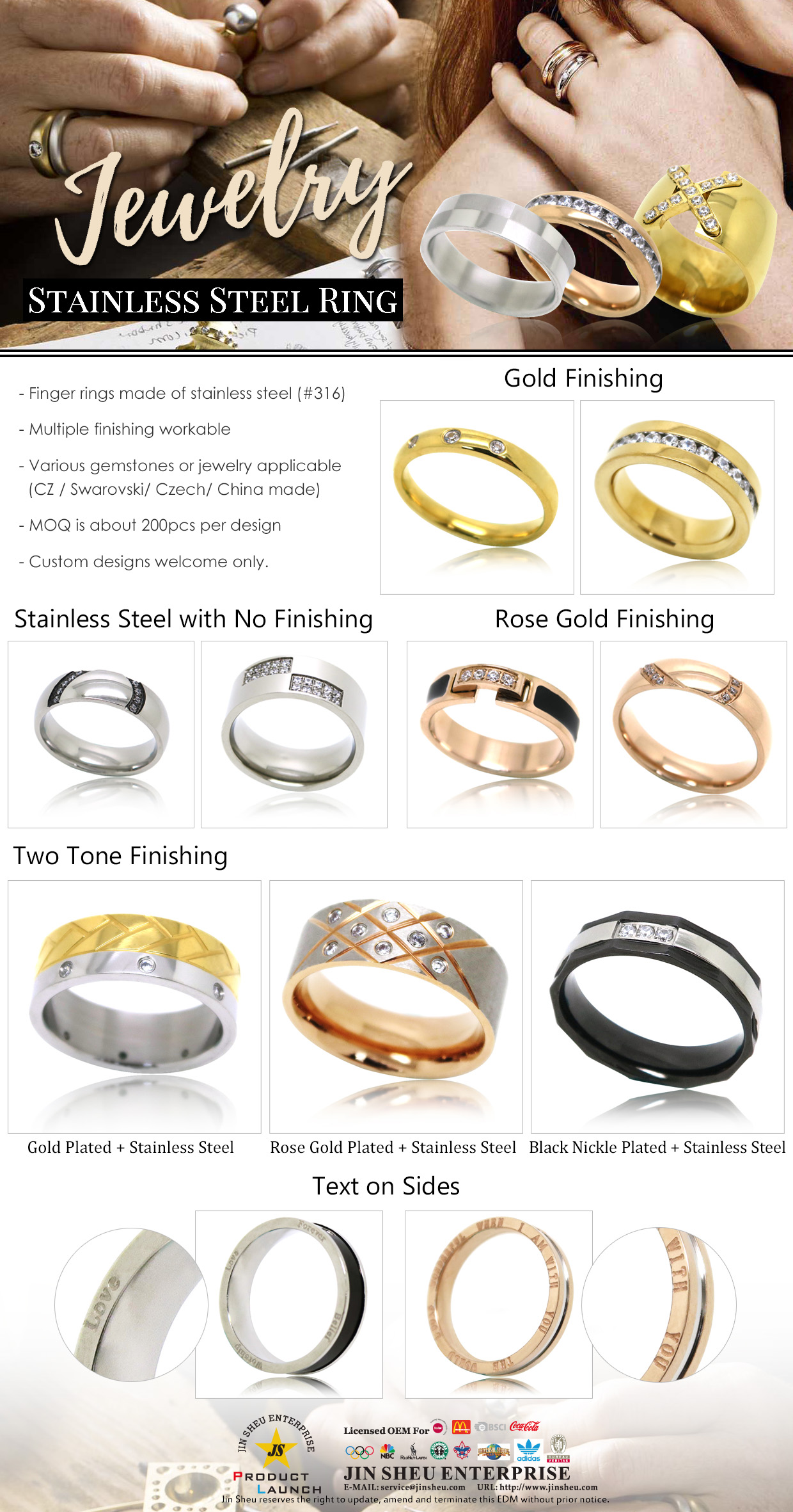 wholesale customize silver rings