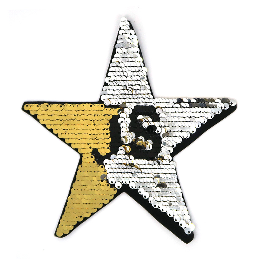 personalized star reversible sequin patch