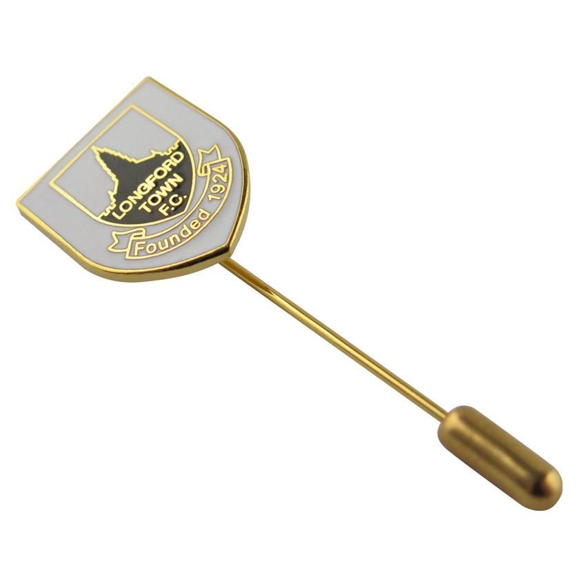 custom long needle plug brooch pin