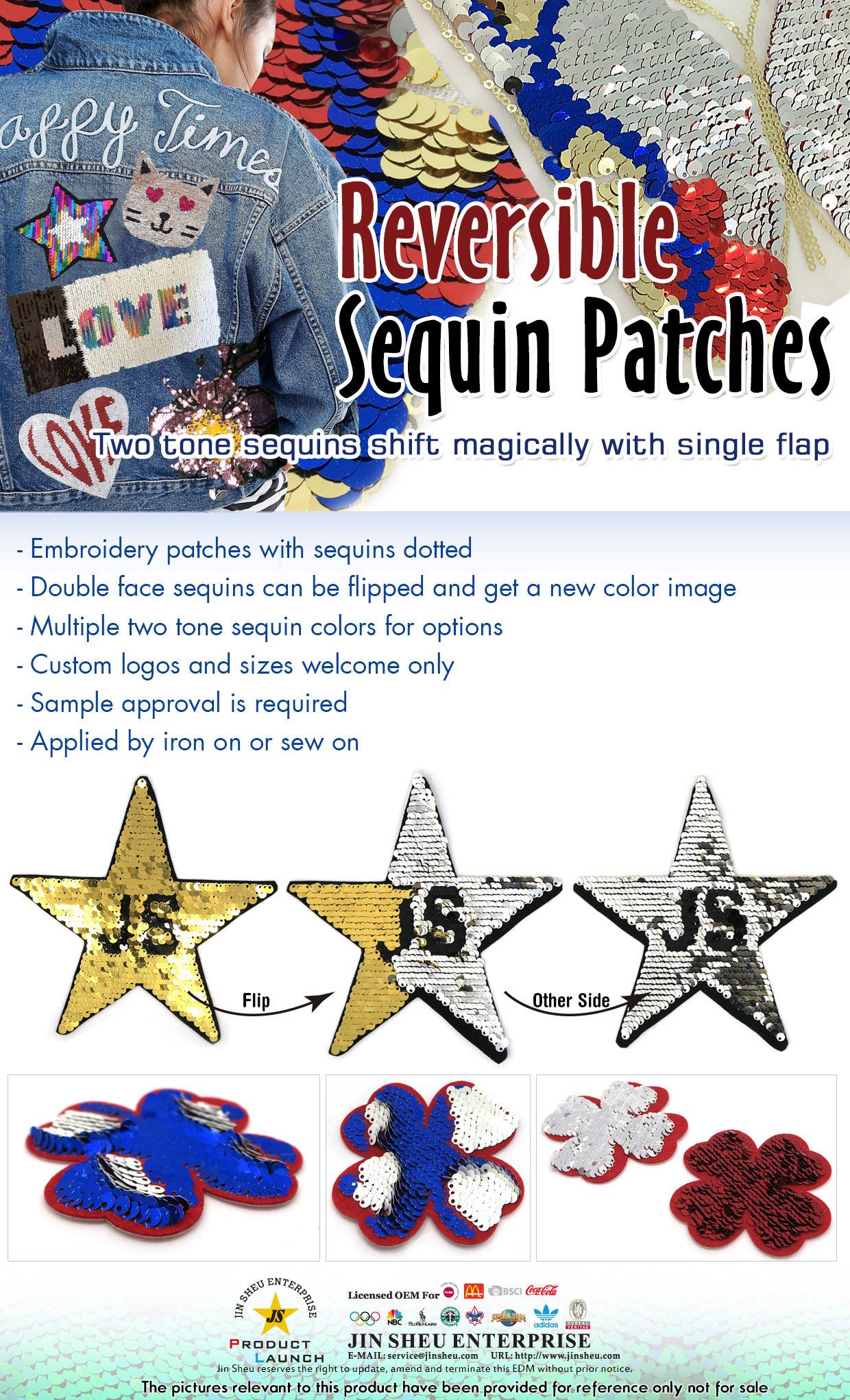 Custom Reversible Sequin Patch