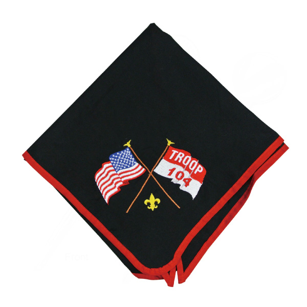 Custom embroidered boy scout neckerchiefs