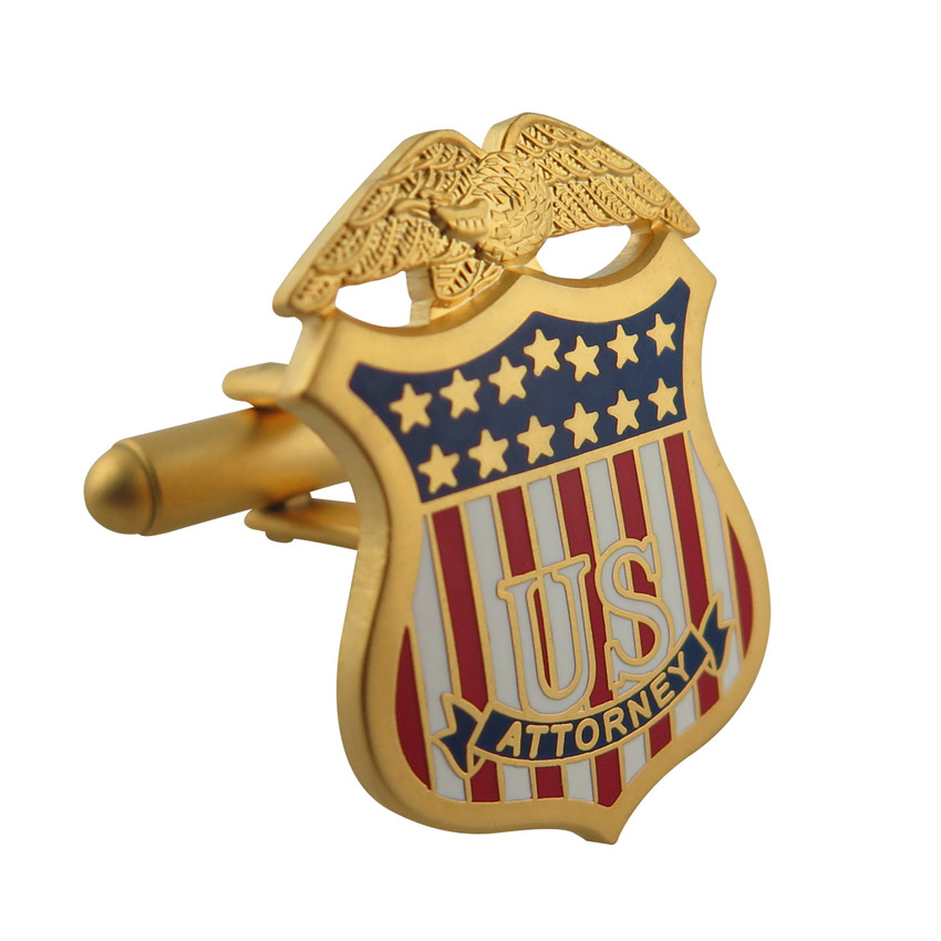 gold plated us military cuff links