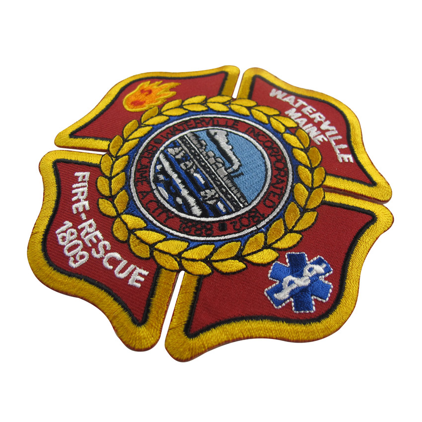 personalize fire dept iron on patch