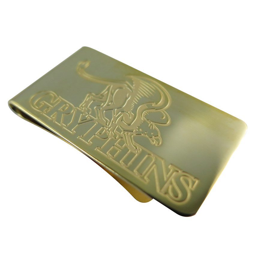 plain gold plated money clip