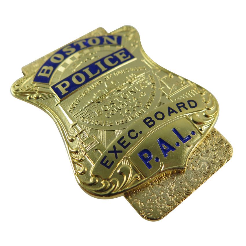 high end police badge money clip