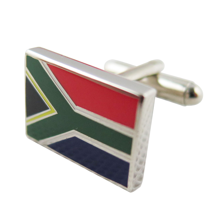 custom national flag cuff link