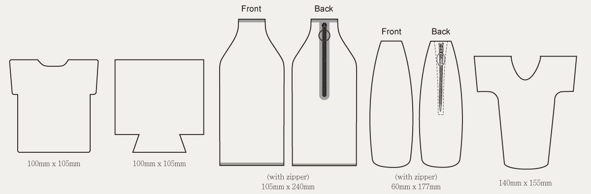neoprene can cooler template