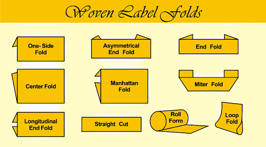 woven label folding types