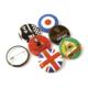 Promotional custom button badges