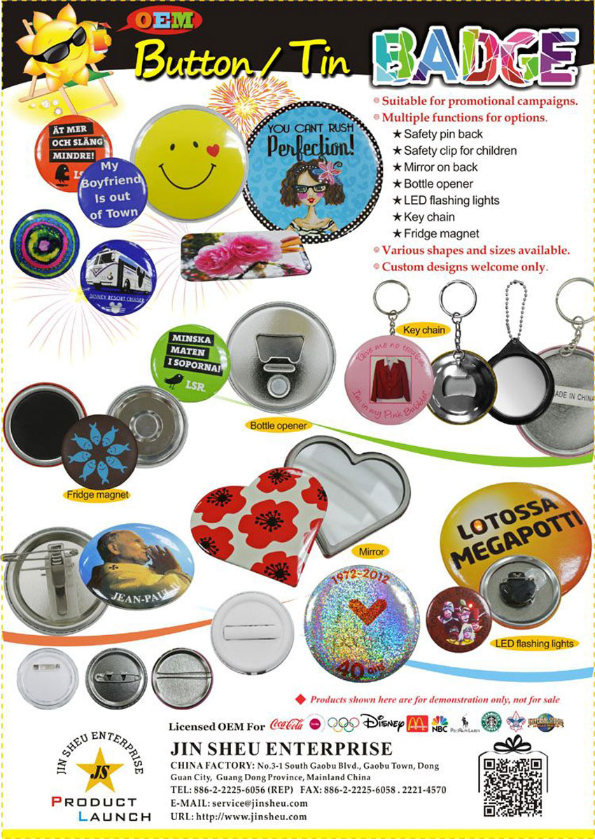 custom made advertising button badges
