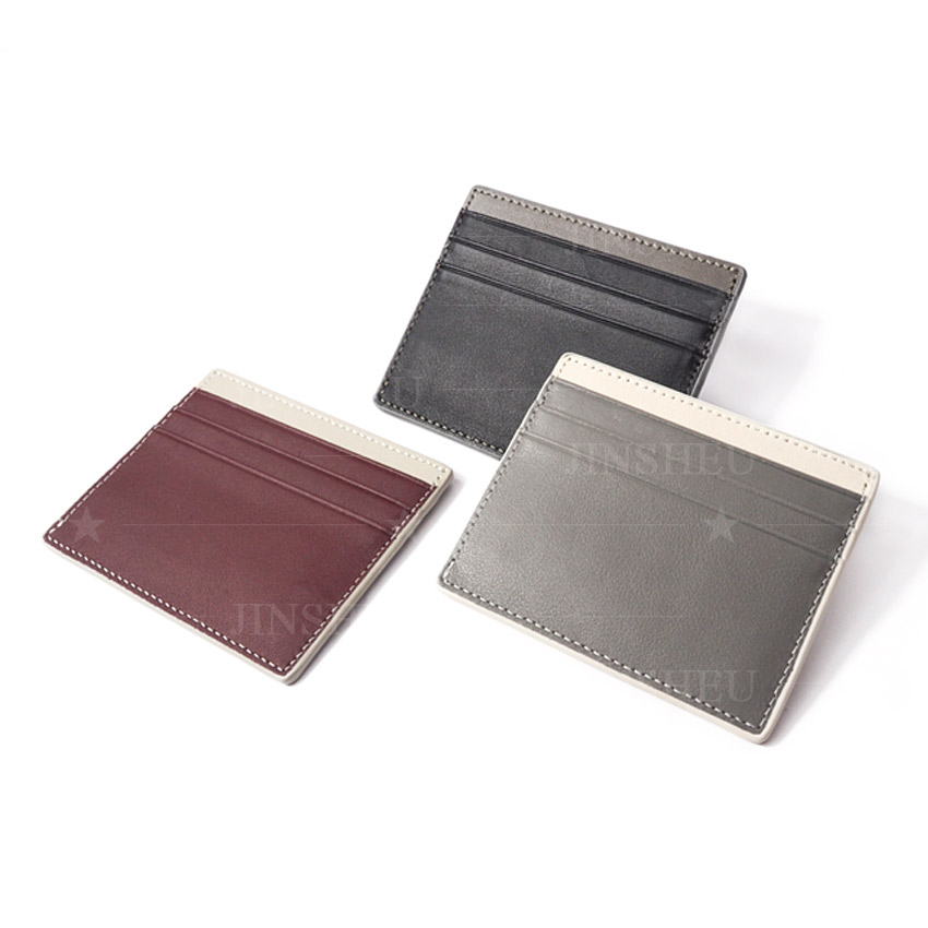 High quality branded leather name card sleeve holders