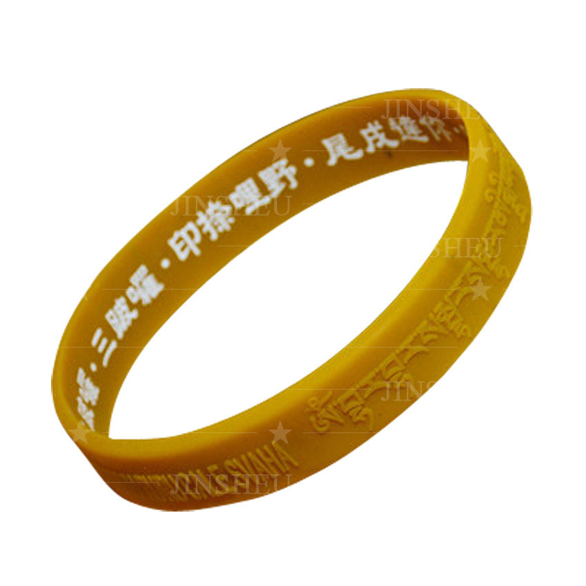 custom Coronavirus blessing mantra silicone printed bracelets