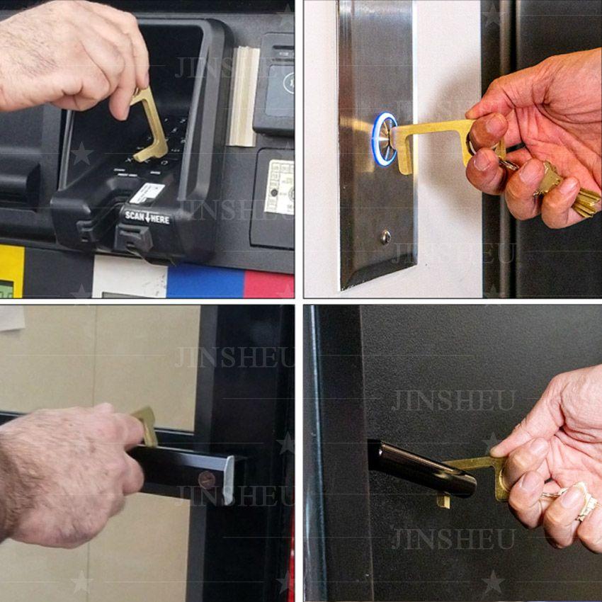 bulk EDC tool brass door opener keychain