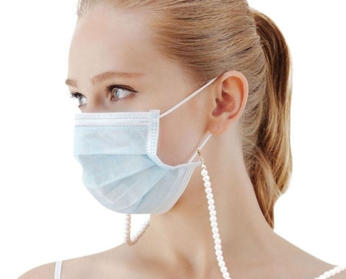 fashion made face mask chain holder necklace