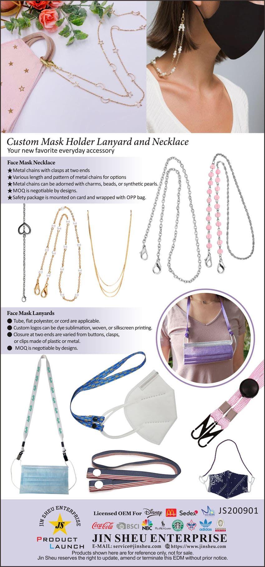 custom mask neck strap, mask chain, mask lanyard