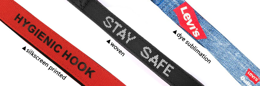 polyester strap with custom logo