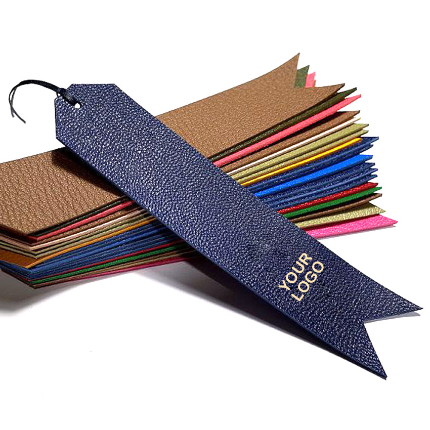 custom made PU leather bookmarks
