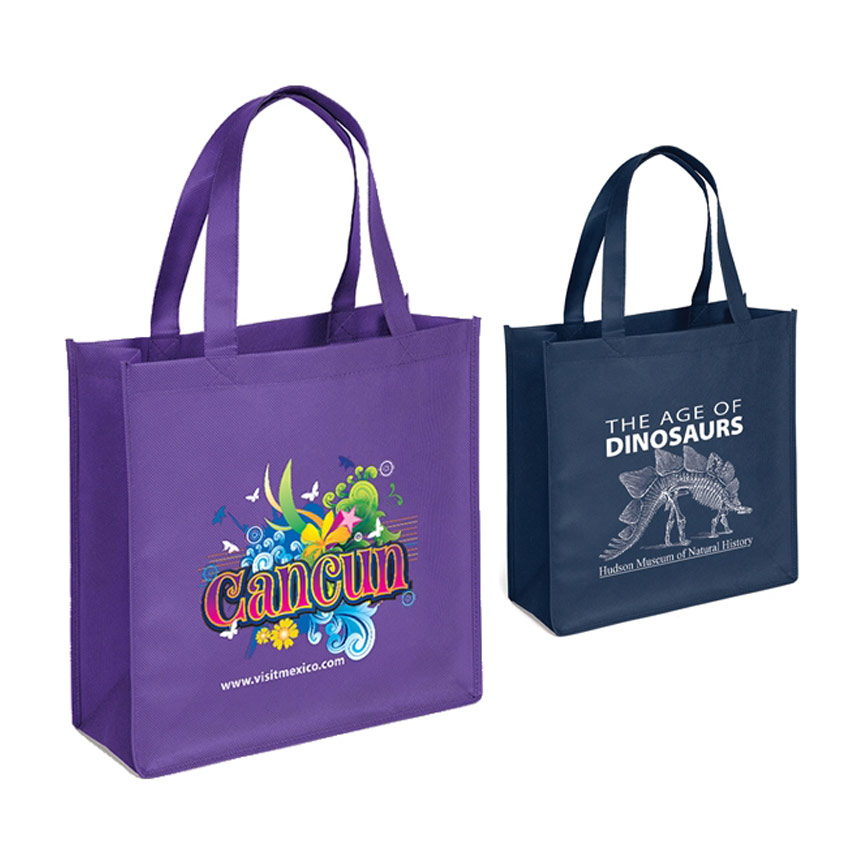promotional no woven bags with custom logo printed
