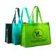 custom logo imprinted non-woven polypropylene tote bag
